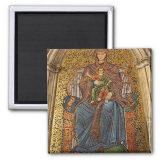 Europe, Italy, Sicily, Taormina. Madonna & child 2 Inch Square Magnet