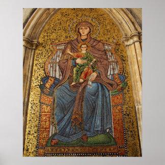 Europe, Italy, Sicily, Taormina. Madonna & child Poster