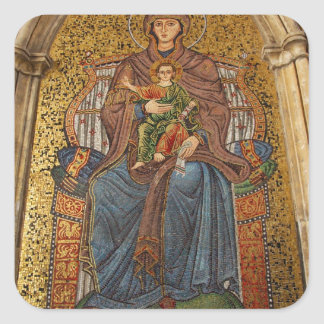 Europe, Italy, Sicily, Taormina. Madonna & child Sticker