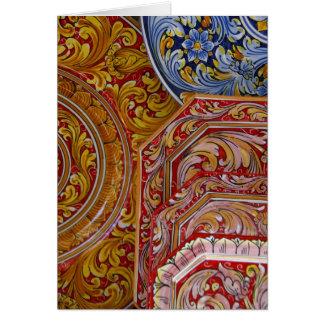 Europe, Italy, Sicily, Taormina. Traditional 2 Card