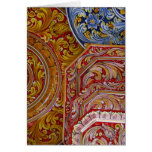 Europe, Italy, Sicily, Taormina. Traditional 2 Greeting Card