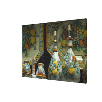 Europe, Italy, Sicily, Taormina. Traditional 5 Gallery Wrap Canvas