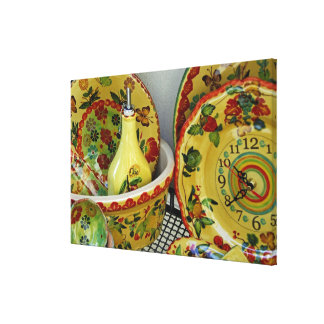 Europe, Italy, Sicily, Taormina. Traditional 6 Stretched Canvas Prints