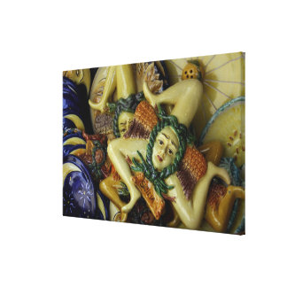 Europe, Italy, Sicily, Taormina. Traditional 7 Gallery Wrapped Canvas