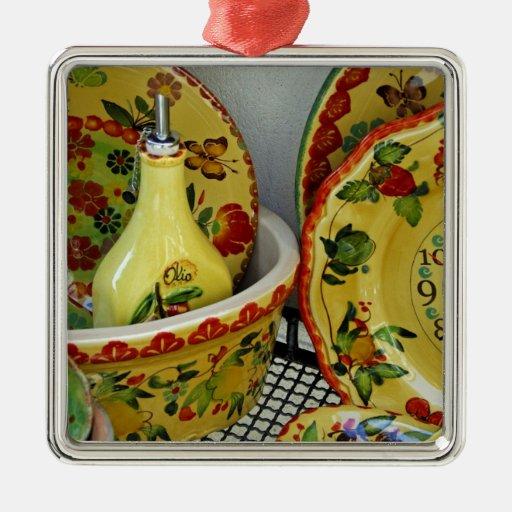 Europe, Italy, Sicily, Taormina. Traditional 8 Ornament