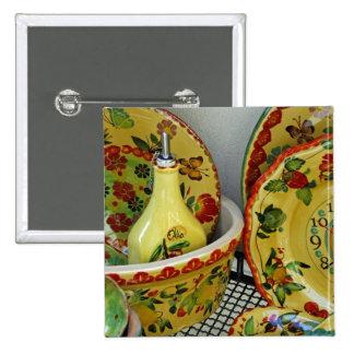 Europe, Italy, Sicily, Taormina. Traditional 8 Pinback Button