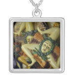 Europe, Italy, Sicily, Taormina. Traditional 9 Square Pendant Necklace