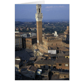 Europe, Italy, Siena. Town overview Greeting Cards