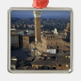 Europe, Italy, Siena. Town overview Metal Ornament