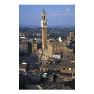 Europe, Italy, Siena. Town overview Photo Print