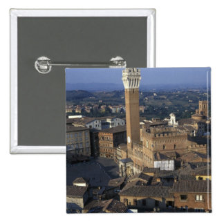 Europe, Italy, Siena. Town overview Pinback Button