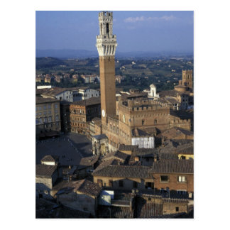 Europe, Italy, Siena. Town overview Postcard