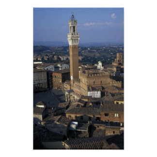 Europe, Italy, Siena. Town overview Print