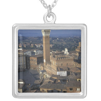 Europe, Italy, Siena. Town overview Silver Plated Necklace