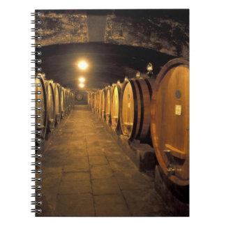 Europe, Italy, Toscana region. Chianti cellars Spiral Note Book