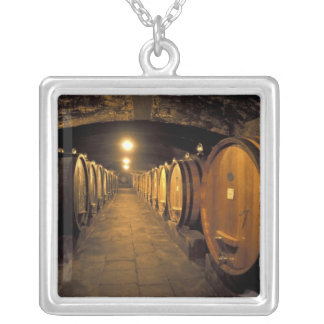Europe, Italy, Toscana region. Chianti cellars Silver Plated Necklace