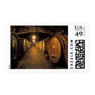 Europe, Italy, Toscana region. Chianti cellars Stamp