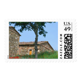 Europe, Italy, Tuscany, abandoned villa in Postage Stamp