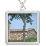 Europe, Italy, Tuscany, abandoned villa in Square Pendant Necklace