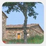 Europe, Italy, Tuscany, abandoned villa in Square Sticker