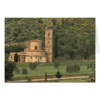 Europe, Italy, Tuscany. Abbazia di Sant'Antimo, Card