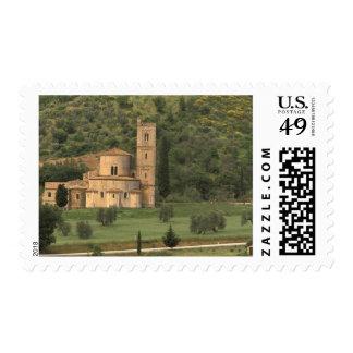Europe, Italy, Tuscany. Abbazia di Sant'Antimo, Postage Stamp