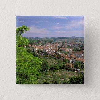 Europe, Italy, Tuscany, Certaldo. Medieval hill Button