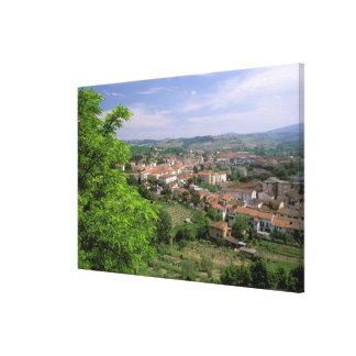 Europe, Italy, Tuscany, Certaldo. Medieval hill Gallery Wrap Canvas