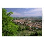 Europe, Italy, Tuscany, Certaldo. Medieval hill Card