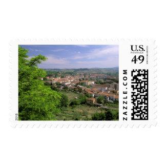 Europe, Italy, Tuscany, Certaldo. Medieval hill Postage
