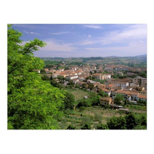 Europe, Italy, Tuscany, Certaldo. Medieval hill Postcard