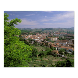 Europe, Italy, Tuscany, Certaldo. Medieval hill Poster