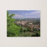 Europe, Italy, Tuscany, Certaldo. Medieval hill Puzzle