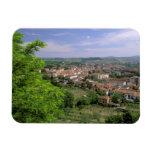 Europe, Italy, Tuscany, Certaldo. Medieval hill Rectangular Photo Magnet