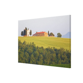 Europe; Italy; Tuscany, Chaple on The Hill Canvas Print