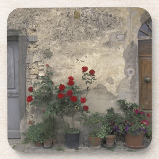 Europe, Italy, Tuscany, Chianti, Tuscan doorway; Beverage Coaster