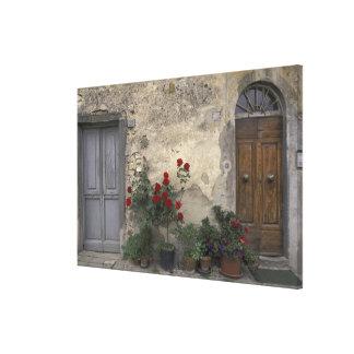 Europe, Italy, Tuscany, Chianti, Tuscan doorway; Canvas Print