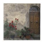 "Europe, Italy, Tuscany, Chianti, Tuscan doorway Ceramic Tile<br><div class=""desc"">COPYRIGHT Walter Bibikow / DanitaDelimont.com | EU16 WBI0076.jpg | Europe,  Italy,  Tuscany,  Chianti,  Tuscan doorway; Castellina in Chianti</div>"