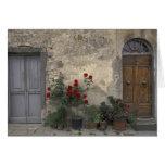 Europe, Italy, Tuscany, Chianti, Tuscan doorway; Greeting Card