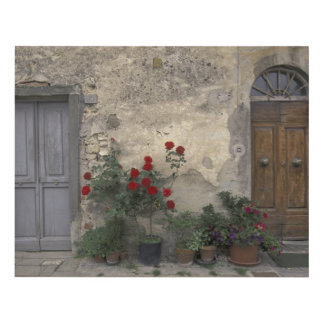 Europe, Italy, Tuscany, Chianti, Tuscan doorway Wood Wall Art