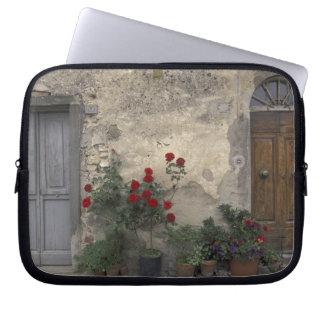 Europe, Italy, Tuscany, Chianti, Tuscan doorway; Laptop Sleeve
