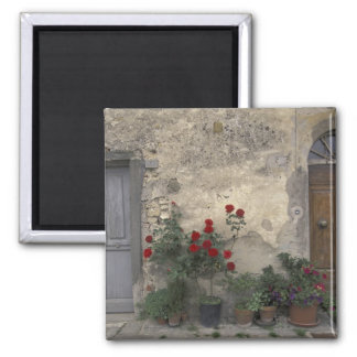 Europe, Italy, Tuscany, Chianti, Tuscan doorway; Magnets
