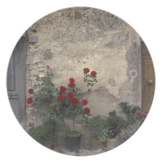 Europe, Italy, Tuscany, Chianti, Tuscan doorway; Melamine Plate