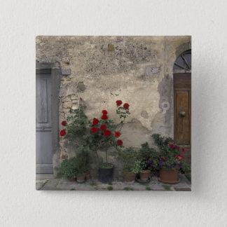 Europe, Italy, Tuscany, Chianti, Tuscan doorway; Pinback Button