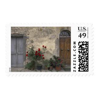 Europe, Italy, Tuscany, Chianti, Tuscan doorway; Postage Stamp