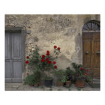 Europe, Italy, Tuscany, Chianti, Tuscan doorway; Poster