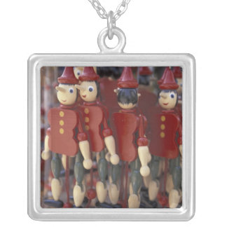 Europe, Italy, Tuscany, Collodi, Home of Silver Plated Necklace