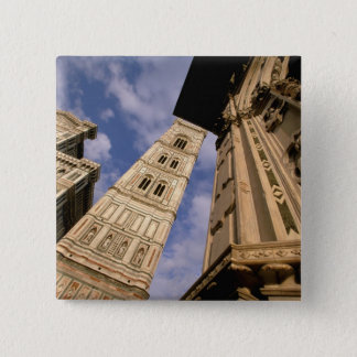 Europe, Italy, Tuscany, Florence. Piazza del 3 Pinback Button