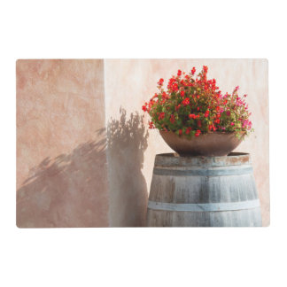 Europe, Italy, Tuscany. Flower pot Placemat