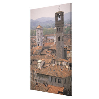 Europe, Italy, Tuscany, Lucca, Town panorama Canvas Print